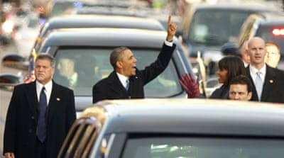 US President Obama sworn in for second term