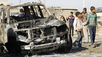 Another car bomb exploded near a market in the north Baghdad neighbourhood of Shula, killing five [Reuters]