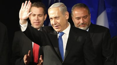 Newly elected Prime Minister Netanyahu promised his supporters he would tackle economic issues [Reuters]