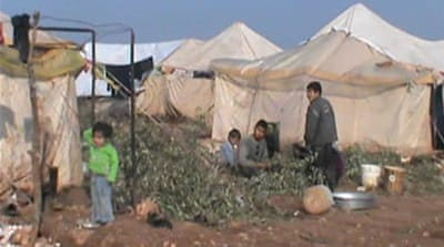 Displaced Syrians fear safety in aid camps
