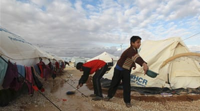 More than 285,000 Syrians been forced to seek refuge in neighbouring Jordan [Reuters]