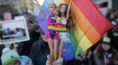 Pro-gay marriage rallies in France