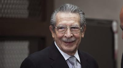 "Rios Montt is known for his ""scorched earth"" campaign against those the government termed leftist rebels [AFP]"
