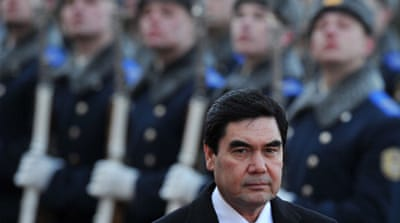 Prime Minister and President Gurbanguly Berdymuhammedov passed a new media law last month [AFP/Getty Images]