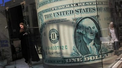 The Egyptian pound has fallen to record low levels against the US dollar [Reuters]