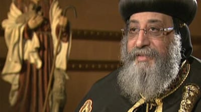 Coptic pope says Egyptian protests should end