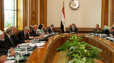 Morsi met the new ministers after their swearing-in and discussed ways to revive tourism [EPA]