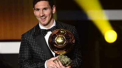 Messi wins fourth Ballon d'Or