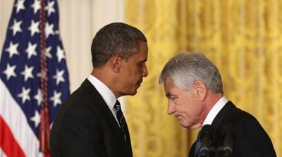 President Obama nominated former US Senator Chuck Hagel to be Defense Secretary on January 7 [Getty Images]