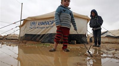 Syrian refugees prepare for Jordan winter