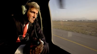 John Kerry met with Afghan President Hamid Karzai for negotiations on a bilateral security pact [REUTERS]