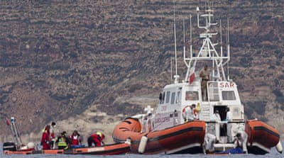 Italian navy rescued 290 migrants on Tuesday alone near the island of Lampedusa [AP]