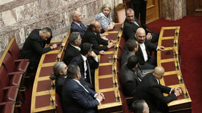 MPs voted overwhelmingly to strip the Golden Dawn members of their immunity [File: AP]