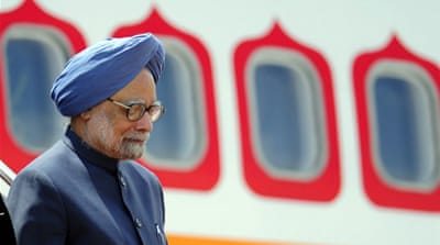 Singh, who left Sunday, looks to secure energy, arms, and other economic deals [AFP]
