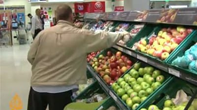 Extensive food waste at European supermarket