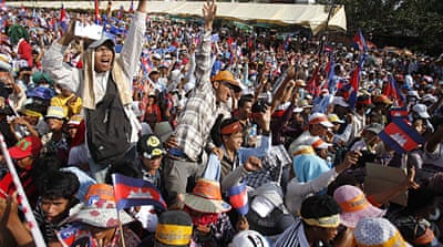 Cambodia opposition rallies for second day
