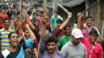 Protests in Dhaka and across the country left at least six dead and more than 100 injured [REUTERS]