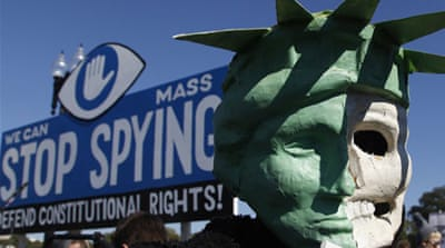 US protesters call for end to spying