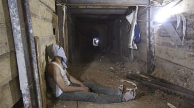 Egypt's military began destroying the tunnels after the removal of its president [Reuters]