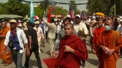 Cambodia's opposition to widen protests