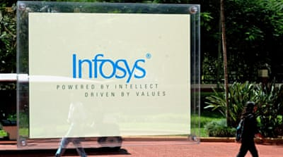 A probe by the Department of Homeland Security concluded that Infosys used easy-to-get B1 visas [EPA]