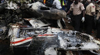 Regular air crashes, such as one which occurred on Thursday, have given Nigeria a poor safety record [AP]