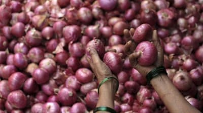 Soaring onion prices rock India