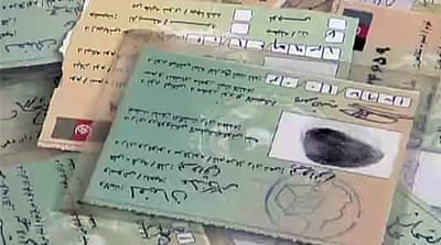 Counterfeit Afghan election cards discovered