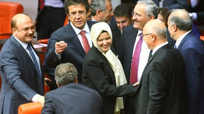 PM Erdogan's reformist push has been criticised by Turks fearing the rise of Islam in the secular nation [AFP]