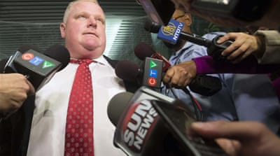 Video shows Toronto mayor smoking cocaine