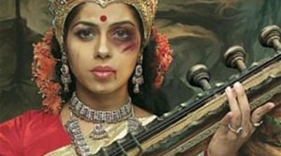 The campaign had iconic deities with welts, bruises and gashes on their faces [Taproot India/ Scoopwhoop.com]