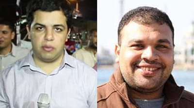 Abdullah Al-Shami, left, was detained about two months ago, while Mohammed Badr has been held since July