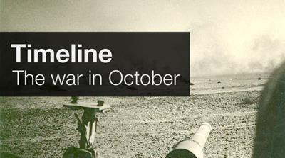 Timeline: The war in October