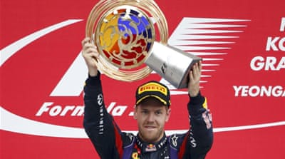 Vettel set his pole position early in Saturday's final qualifying session at the Yeongam circuit [AFP]
