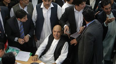 Afghan presidential candidates decided