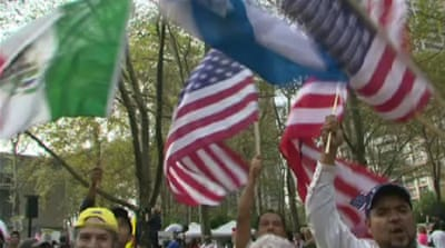 Demonstrators call for US immigration reform