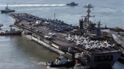 North Korea warns US over joint naval drill
