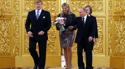 The Dutch royal couple were in Russia to celebrate the two country's historic ties [EPA]