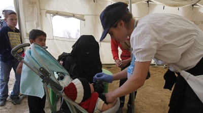 Polio vaccination drive begins in Middle East