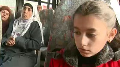 Children visit jailed Palestinian relatives