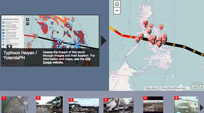 Interactive: Mapping damage in Philippines