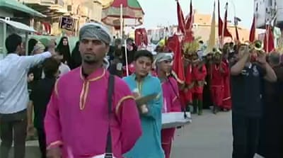 Shia Muslims commemorate Ashura in Iraq