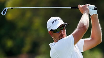 Sweden's Henrik Stenson birdied four of his last five holes in the third round of the Tour Championship [Getty Images]