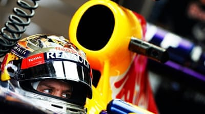 Vettel continued his domination in the US, where he topped the times in the final Grand Prix free practice session [AFP]