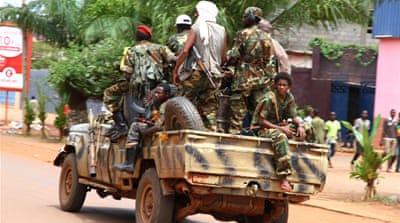 CAR has been mired in chaos since Seleka rebels ousted longtime president Francois Bozize in March [AP]