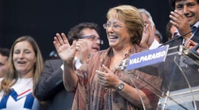 Michelle Bachelet is likely to win Sunday's presidential election [AP]