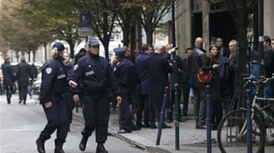 Police cordoned off the building following the attack on Monday morning [Reuters]