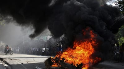 Haiti anti-government protests turn violent
