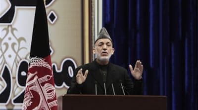 Karzai said US forces are banned from entering Afghan homes starting November 24 [AP]