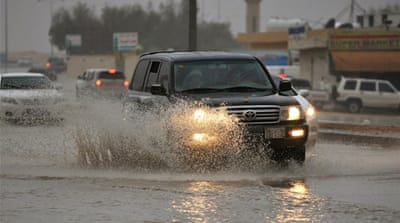The storms caused widespread power cuts in Riyadh, and closed schools and universities across the capital. [AFP]